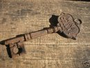 WINE CELLAR KEY LARGE CAST IRON