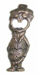 BIG MOUTH MAN CAST IRON BOTTLE OPENER M