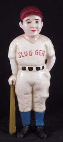 SLUGGER BASEBALL BOY BANK IRONWARE DECOR B