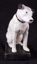NIPPER STILL BANK CAST IRON RCA VICTOR FOX TERRIER