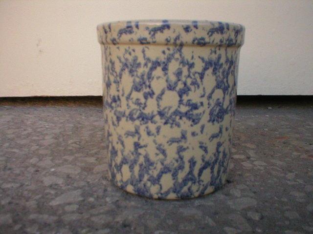 ROBINSON RANSBOTTOM ONE QUART BLUE HIGH JAR