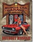 MUSCLE CAR GARAGE RETRO TIN SIGN