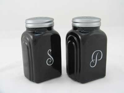 EBONY ARCH SALT PEPPER SHAKERS