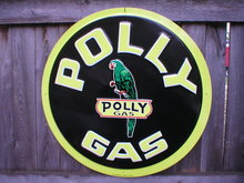 POLLY GAS TIN SIGN 24
