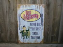 OLD FISHERMAN NEVER DIE TIN SIGN
