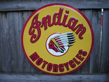 INDIAN MOTORCYCLES TIN SIGN 24