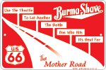 BURMA SHAVE SIGN US 66 MOTHER ROAD ALUMINUM