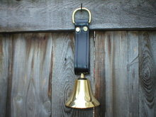 ONE SOLID BRASS BELL LEATHER STRAP DOOR BELL