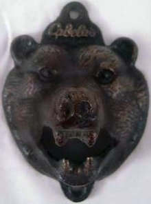 BEAR HEAD BOTTLE OPENER CAST IRON