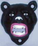 BEAR HEAD BOTTLE OPENER CAST IRON