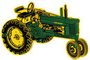 JOHN DEERE TRACTOR WOOD COAT RACK