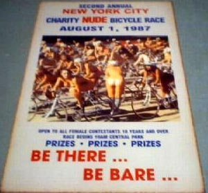 NUDE BICYCLE RACE RETRO PRINT POSTER