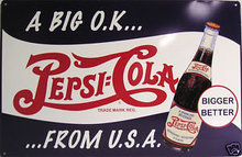 PEPSI COLA OK TIN SIGN METAL RETRO SIGN