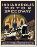 INDIANAPOLIS MOTOR SPEEDWAY 1920 TIN METAL SIGN