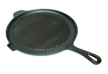 Old Mountain Cast Iron Preseasoned Round Griddle/Grill Pan