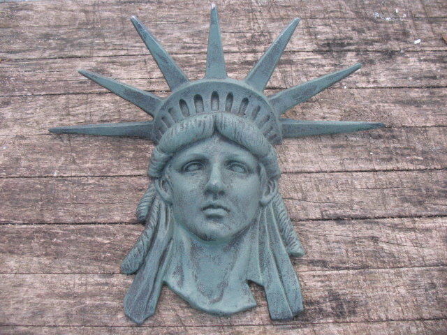 STATUE OF LIBERTY FACE VERTIGRE CAST IRON