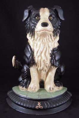 SHEAPERD DOG DOORSTOP CAST IRON