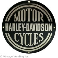 HARLEY DAVIDSON MOTOR CYCLES PORCELAIN COATED SIGN