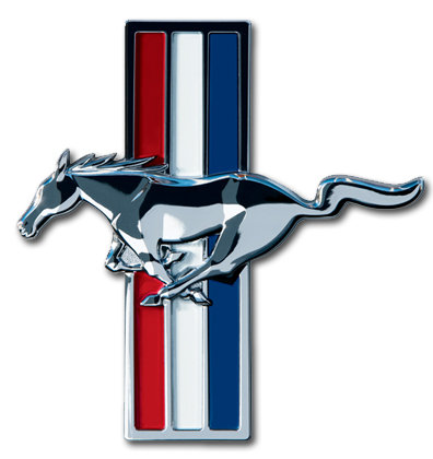 FORD MUSTANG BADGE METAL SIGN