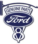 FORD V-8 GENUINE PARTS BRACKET SIGN