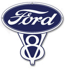 FORD V8 RETRO METAL SIGN