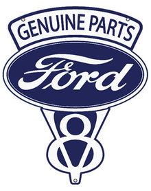FORD V8 GENUINE PARTS METAL SIGN