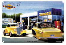 FLY WITH THE ARROW SUNOCO RETRO METAL SIGN