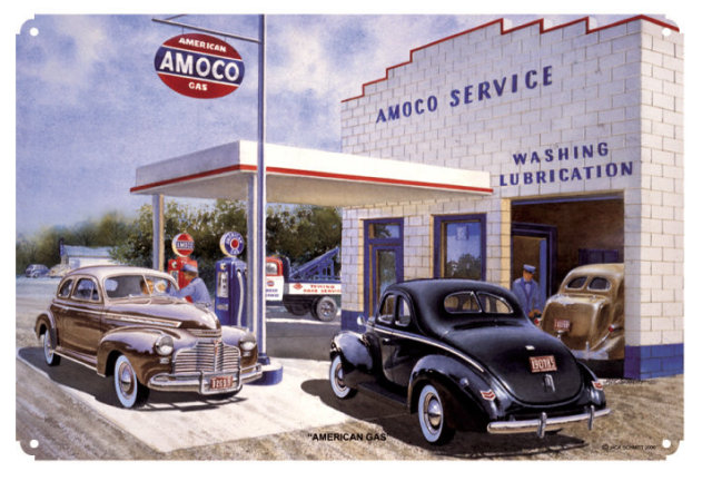 AMERICAN GAS AMOCO RETRO METAL SIGN