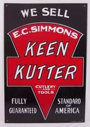 E.C. SIMMONS KEEN KUTTER TOOLS TIN SIGN