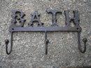 3 HOOK BATH COATRACK CAST IRON