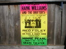 HANK WILLIAMS 1952 CONCERT POSTER PRINT