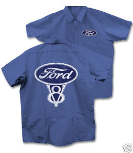 FORD LIGHT BLUE WORK SHIRT