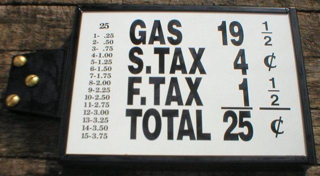 SMALL PRICE BOX VISIBLE GAS PUMP