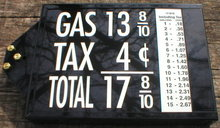 LARGE PRICE BOX VISIBLE GAS PUMP