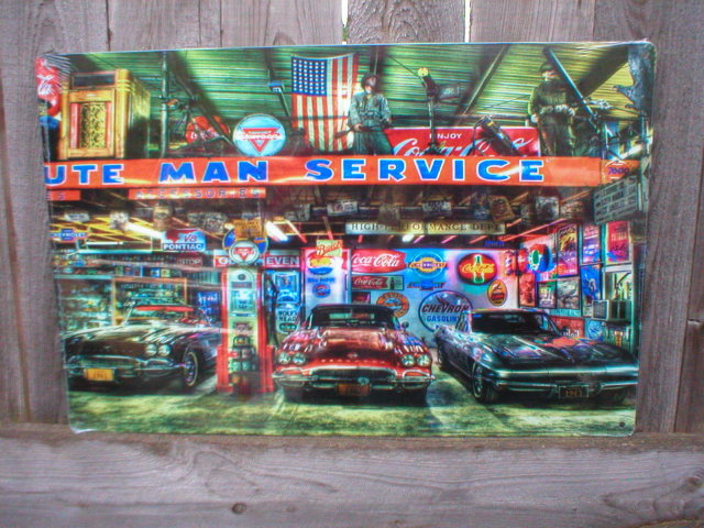MINUTE MAN SERVICE HEAVY STEEL SIGN