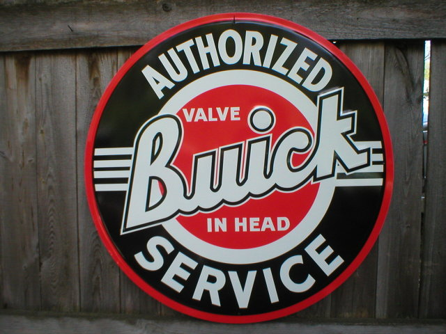 BUICK AUTHORIZED SERVICE TIN SIGN 24