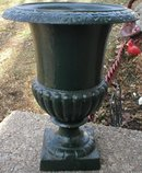 VICTORIAN PLANTER GARDEN URN DECOR CAST IRON