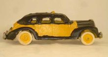 TAXI CAB YELLOW BLACK  CAR CAST IRON
