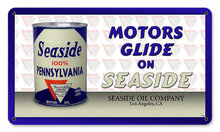SEASIDE PENNSYVANIA MOTOR OIL HEAVY METAL SIGN