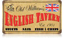 OLD WILLIAM'S ENGLISH TAVERN HEAVY METAL SIGN