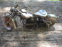 BRUSHED CHROME TIN METAL MOTORCYCLE