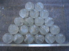 WHITE CAT EYE SHOOTER MARBLES TWO POUNDS ONE INCH