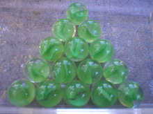 GREEN CAT EYE SHOOTER MARBLES TWO POUNDS ONE INCH