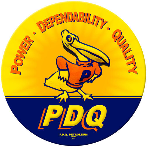 P. D. Q. CALIFORNIA HEAVY METAL SIGN