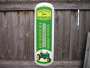 JOHN DEERE METAL THERMOMETER SIGN