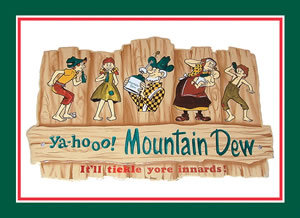 MOUNTAIN DEW HILLBILLY METAL SIGN