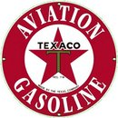 TEXACO AVIATION GASOLINE PORCELAIN COATED SIGN