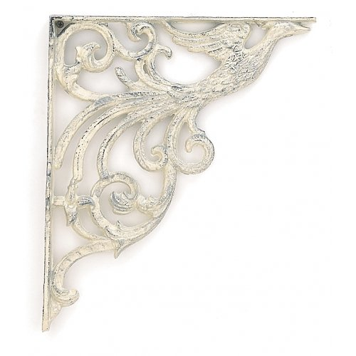 HEAVY DOVE SHELF BRACKETS ONE SET CAST IRON