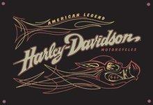 HARLEY DAVIDSON PORCELAIN COATED SIGN