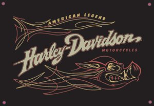 HARLEY DAVIDSON PORCELAIN COATED SIGN